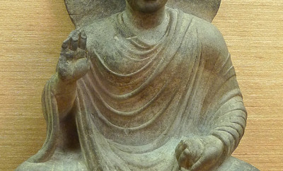 Statuette du Bouddha, Gandhara, II-IVe s., Musée national de Bangkok