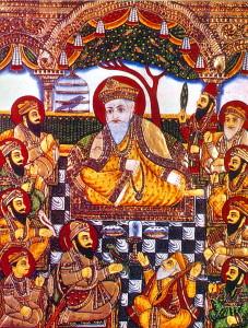 2. Guru Nanak et ses disciples, peinture indienne XIXe s.