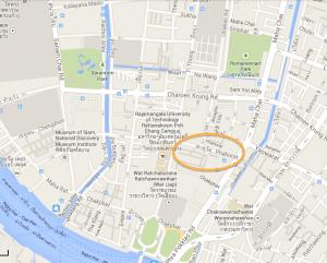 6. Bangkok, quartier de Phahurat, extrait plan
