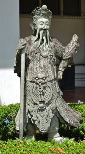Gardien de temple chinois, XIXe s., Musée national de Bangkok