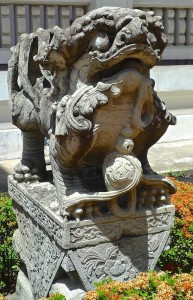 Lion gardien chinois, mâle, XIXe s., Musée national de Bangkok