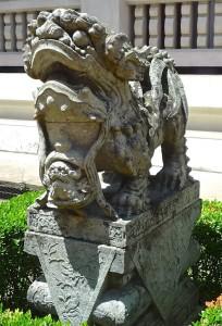 Lionne gardienne chinoise, femelle, XIXe s., Musée national de Bangkok
