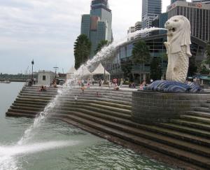 Une créature léonine hybride : le merlion, symbole de Singapour