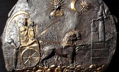 Aï Khanoum, plateau représentant la déesse Cybèle
