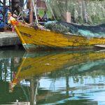 Ban Nam Chieo, bateau et son reflet/1