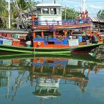 Ban Nam Chieo, bateau et son reflet/2