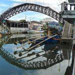 Ban Nam Chieo, passerelle et port de pêche