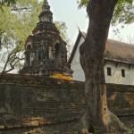 Wat Chedi Yot, chedi Phra Kan Janthra et ubosot