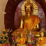 Wat Chet Yot, ubosot, statue du Bouddha