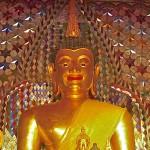 Wat Doi Suthep, viharn, statue du Bouddha (détail)