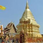 Wat Doi Suthep, chedi plaqué en cuivre