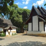 Wat Pa Da Et, ho trai (bibliothèque) et viharn