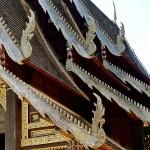 Wat Pa Da Et, viharn, détail du toit