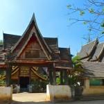 Wat Yang Luang, enceinte et portail en bois