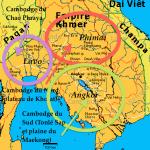 Carte de l'empire khmer à son apogée, XIIe siècle