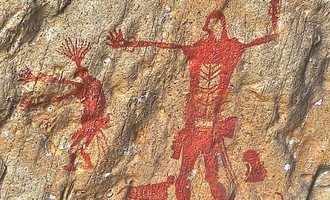khao phlara homme et chamane avec animaux.