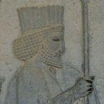 Apadana, escalier de l'est bas-relief guerrier perse