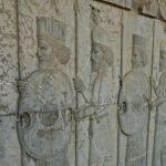 Apadana, escaliers Est, guerriers perses et mèdes