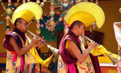 leh monaci buddisti gompa spituk (foto giovanni camici)