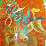 Esprit gyalpo, peinture murale