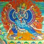 Yamantaka et Vajravetali, peinture murale