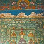 Figure gardienne sur mandala, peinture murale