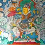 Roi gardien du Nord, Vaisravana, peinture murale