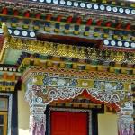 tashiding monastère pavillon moulin  à prière décoration porte 3.4.15