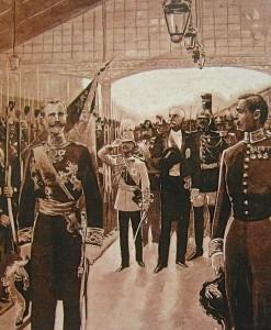 Le roi Rama V accueilli par le président français Félix Faure