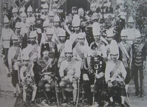 Bangkok, le tsarévitch Nicolas, futur Nicolas II à la réception donnée par Rama V
