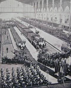 Le convoi du roi Rama V à son arrivée en gare du Nord, à Paris; 18.9.1897