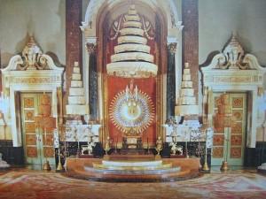 Bangkok, intérieur de la salle du trône