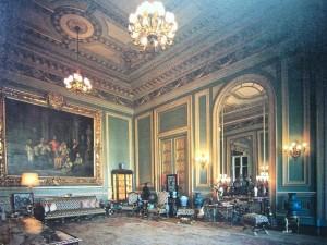 Bangkok, salon du Palais royal avec la peinture de Rama V et de sa famille