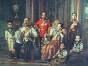 Bangkok, la peinture de Rama V et de sa famille
