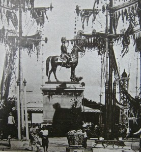 Bangkok, statue équestre de Rama V