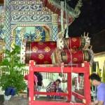 Temple de Ban Si Mongkhon, au premier plan les tambours sacrés rituels