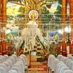 Le temple est prêt pour la prière à l'issue de la cérémonie