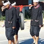 Défilé, porteurs du gong sacré