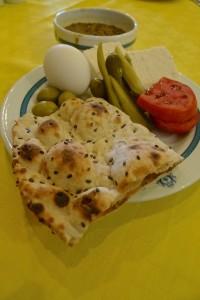 Esfahan, Hôtel Abbasi, petit-déjeûner