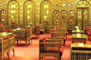 Esfahan, Hôtel Abbasi, salon de thé