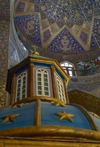 Kelisa-ye vank, intérieur de l'église,  chapelle et plafond