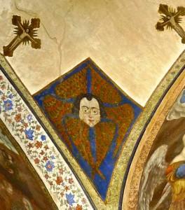 Kelisa-ye vank, intérieur de l'église, fresque représentant un ange