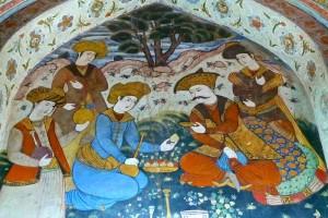 Peintures murales du salon du Shah Abbas/5