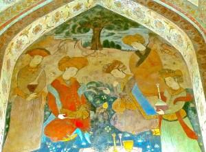 Peintures murales du salon du Shah Abbas/2