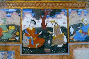 Peintures murales du salon du Shah Abbas/1