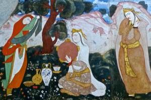 Peintures murales du salon du Shah Abbas/3