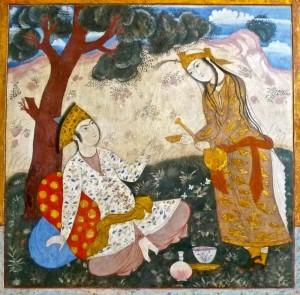 Peintures murales du salon du Shah Abbas/4