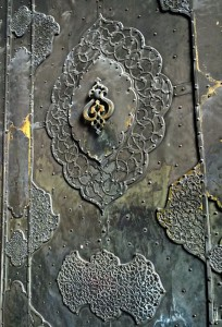 Porte d'entrée en métal