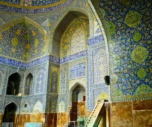 Salle de prière, mihrab et minbar