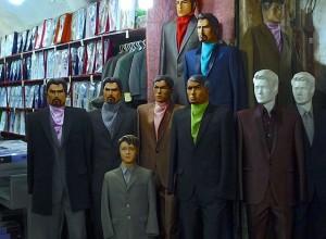 Kerman, Bazar-e Sartasari, mode masculine